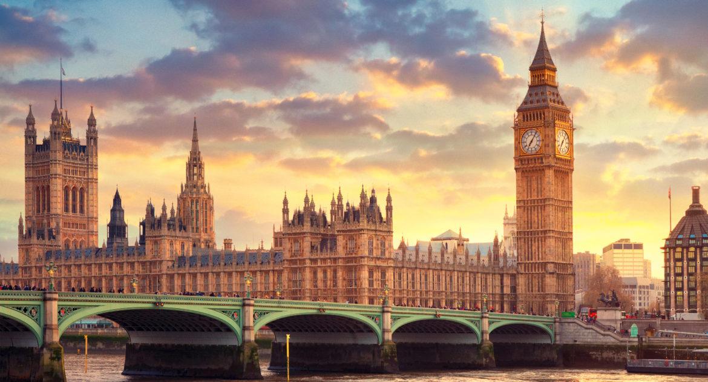نمای از پارلمان انگلیس